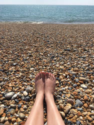 Pebble Feet by XLittleDoveX