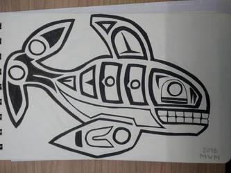Inktober 12 - whale by merolvonmet