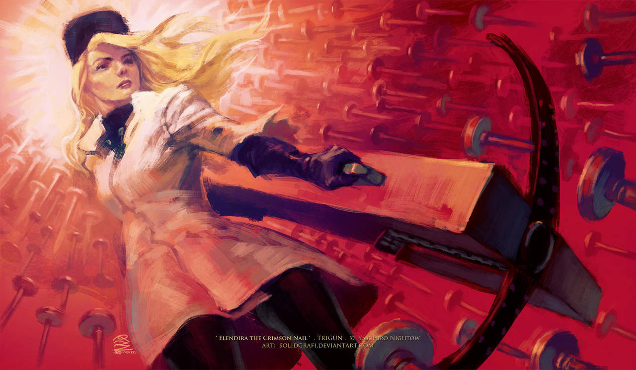 Trigun: Elendira the Crimson Nail by solidgrafi