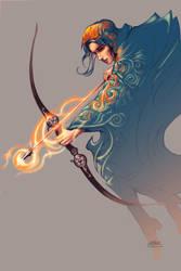 Erika the Archeress by solidgrafi
