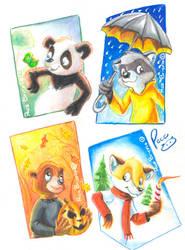 4 seasons by pandapaco
