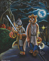 Halloween 2012 Bernart and Andy by pandapaco