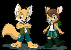 Furcamp characters by pandapaco