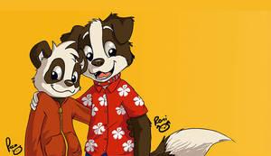 Parinton y Roni by pandapaco