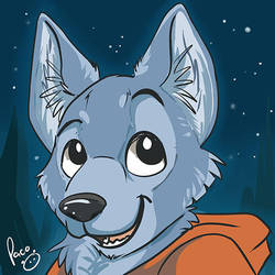 Blue Wolf by pandapaco