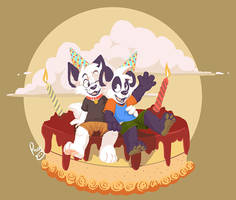 Arcc and Parinton's birthday by pandapaco