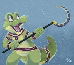 Croc O'Dile as Sobek by pandapaco
