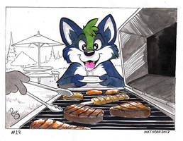 Inktober 2017 Day 19 by pandapaco