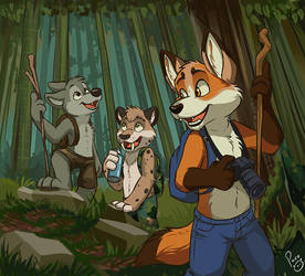 Adventure through the woods. by pandapaco