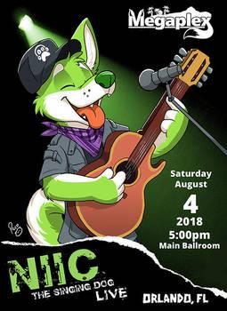 NIIC The Singing Dog Live! by pandapaco