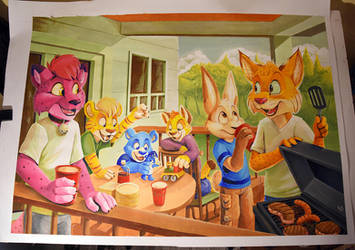 Barbeque brunch by pandapaco