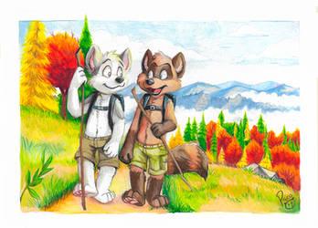 Hiking Autumn by pandapaco