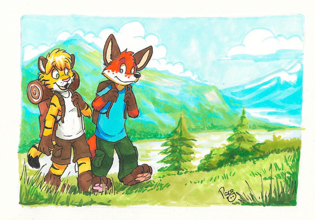 Impressionist hiking by pandapaco