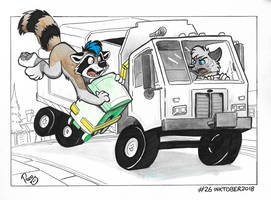 NSFW #Inktober2018 Day 26: Garbage collector by pandapaco