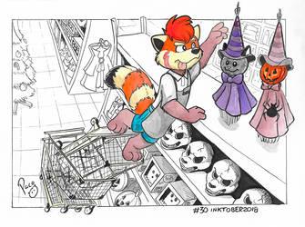 NSFW #Inktober2018 Day 30: Halloween shopping by pandapaco