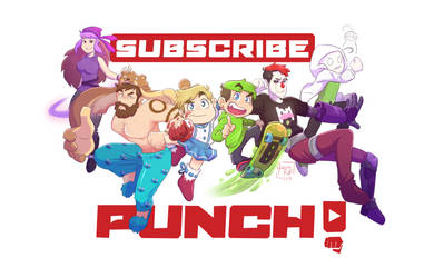 SPEEDPAINT | Subscribe and Punch!! by aileenarip