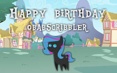 Happy birthday Scribblerproductions by jaedenwalton
