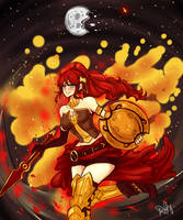 Red Star: Pyrrha Tribute by AmyNinkai