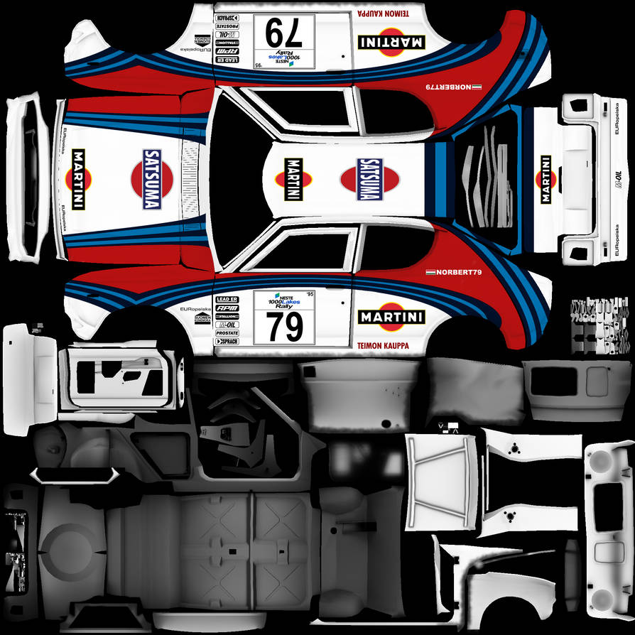 My Summer Car Martini Racing skin by norbert79