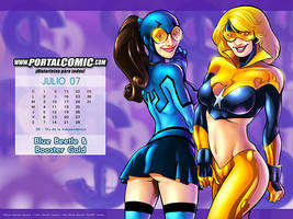 Blue Beetle + Booster Gold by PortalComic