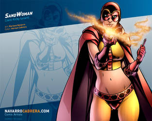 SandWoman (Jack Kirby's SandMan fanart) by PortalComic