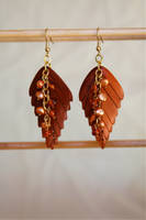 Wood Leaves With Pearls And Amber by CreativeExcess