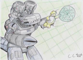 Monzaemon VS. Machinedramon by CrusaderCrab