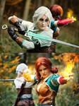 Ciri and Triss Merigold cosplayers by Juriet