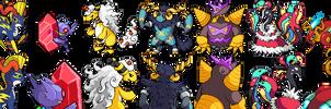 Tandor Mega Evolutions by Involuntary-Twitch