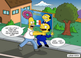 Homer Simpsons vs Berlusconi by MasterLudus