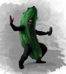 The Man in the Pickle Suit by LinkCanTriForce