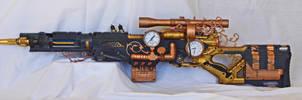 Steampunk Sniper Rifle by vanbangerburger