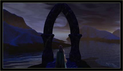 Moonrise at Loch Thallen by worldsunknown