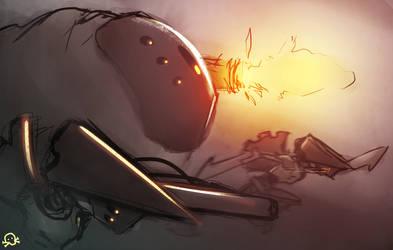 Mechanoid Attack by SentientLine