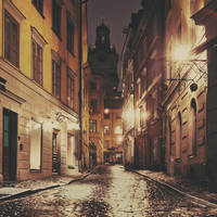 Stockholm: The Night Street. by inbrainstorm