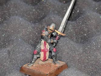 knight templar miniature by kolboldpaladin
