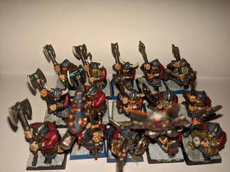 dwarf two handed warriors miniatures by kolboldpaladin