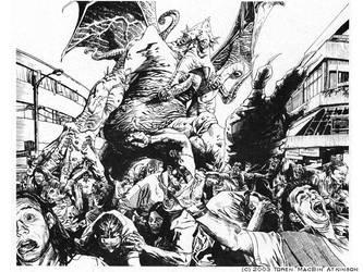 Cthulhu on the Rampage by torenatkinson
