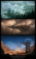 Space Junk by HeliacWolf