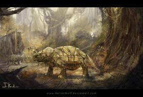Jurassic Cyberpark by HeliacWolf