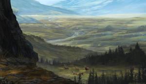 Landscape by HeliacWolf