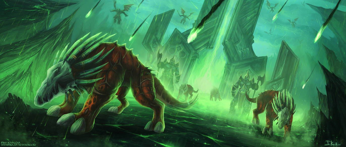 (Fel)Hounds of war by HeliacWolf