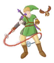 Skyward Sword Link by Phinnimonster
