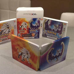 Pokemon sun and moon versions with metal case. by Brachio-white-ranger