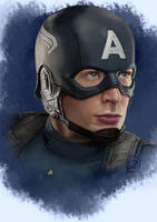 captain america-fanart by Guilarts