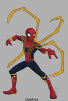 Iron Spider-Fanart by Guilarts