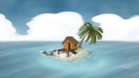 little beach house (updated) by EvilBeanz13