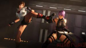 Tekken x DOA by lucalancez