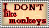 I don't like monkeys stamp by Zet206