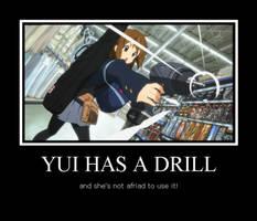 Yui with a Drill by AkiyamaFC